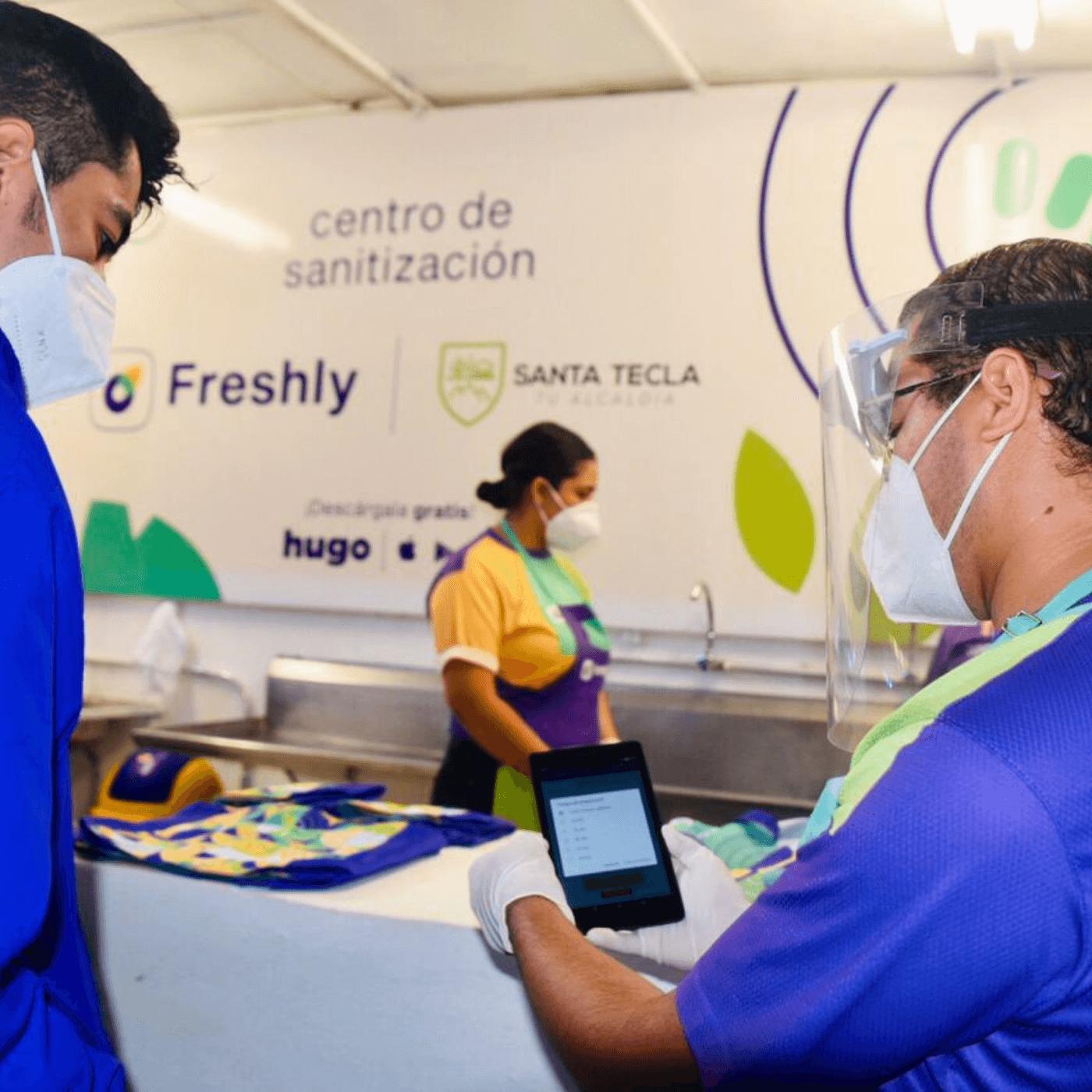 Los Negocios Y El Control De Los Mercados En Santa Tecla. Freshly. Infografía. Roberto d'Aubuisson. 2020