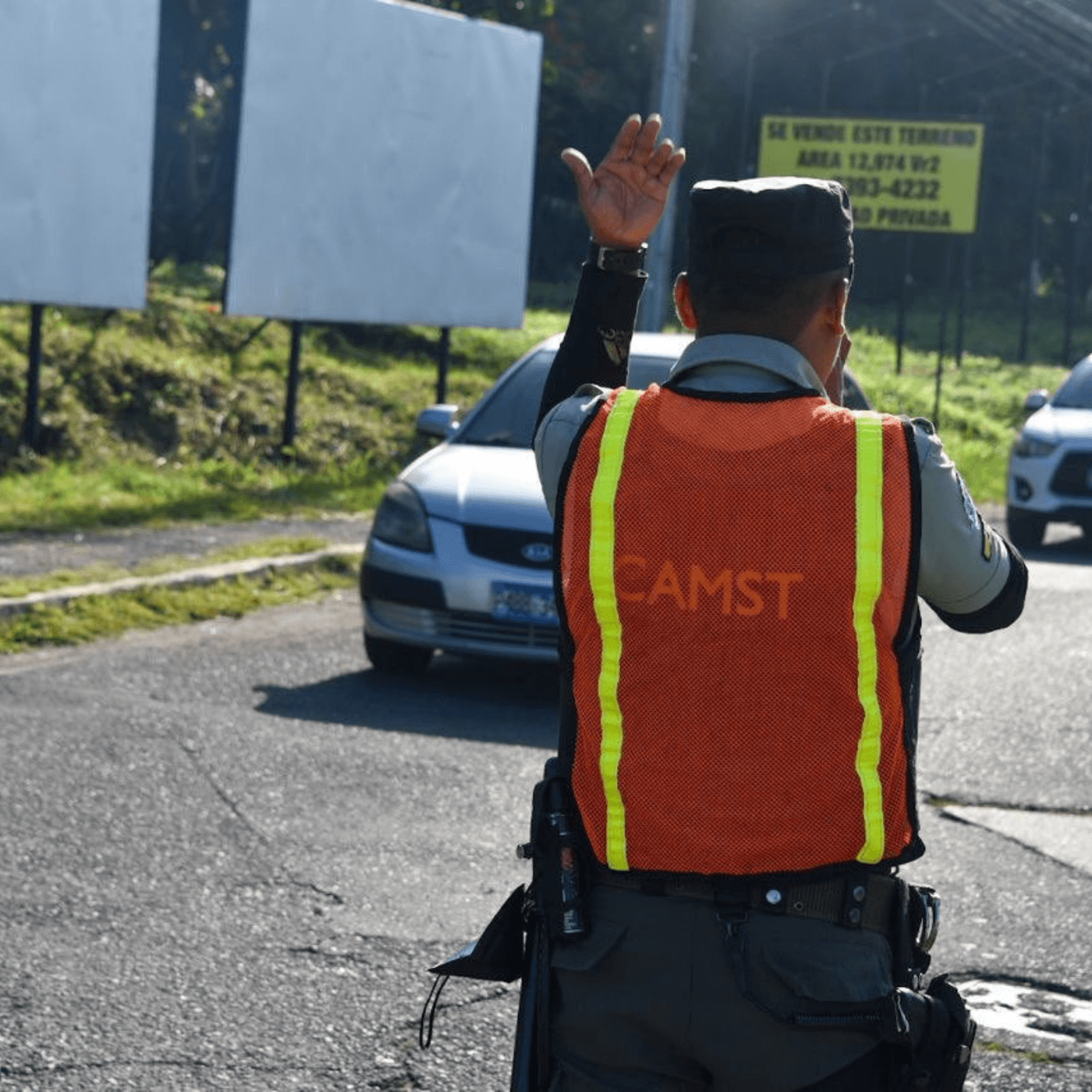 Las Acciones Para Mejorar El Tránsito En Santa Tecla. CAMST. Fotografía. Roberto d'Aubuisson. 2021